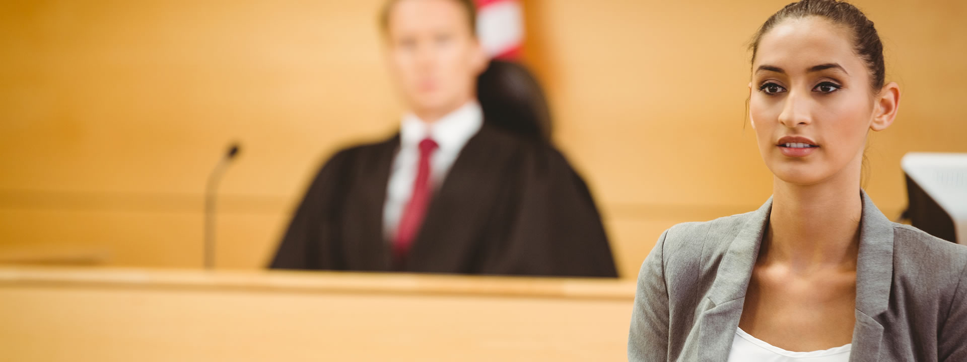 Women in court looking serious